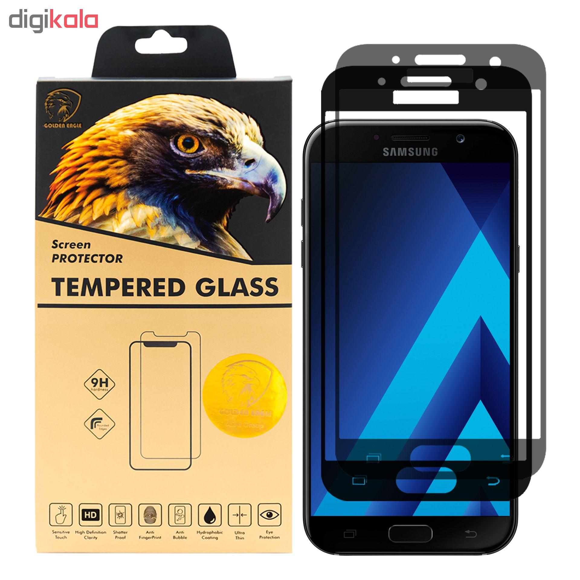 محافظ صفحه نمایش گلدن ایگل مدل DFC-X2 مناسب برای گوشی موبایل سامسونگ Galaxy A7 2017 بسته دو عددی main 1 1
