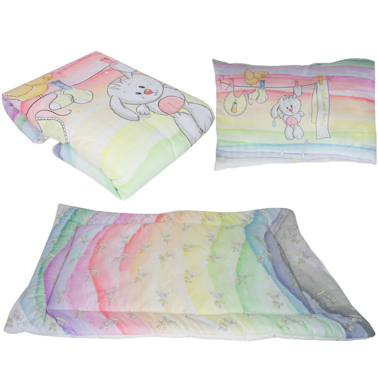 سرویس خواب 3 تکه کودک طرح خرگوش کد 1047