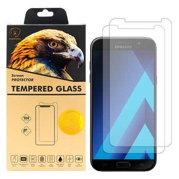 محافظ صفحه نمایش گلدن ایگل مدل GLC-X2 مناسب برای گوشی موبایل سامسونگ Galaxy A7 2017 بسته دو عددی
