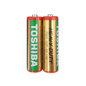 باتری نیم قلمی توشیبا مدل Heavy Duty R03 بسته 2 عددی