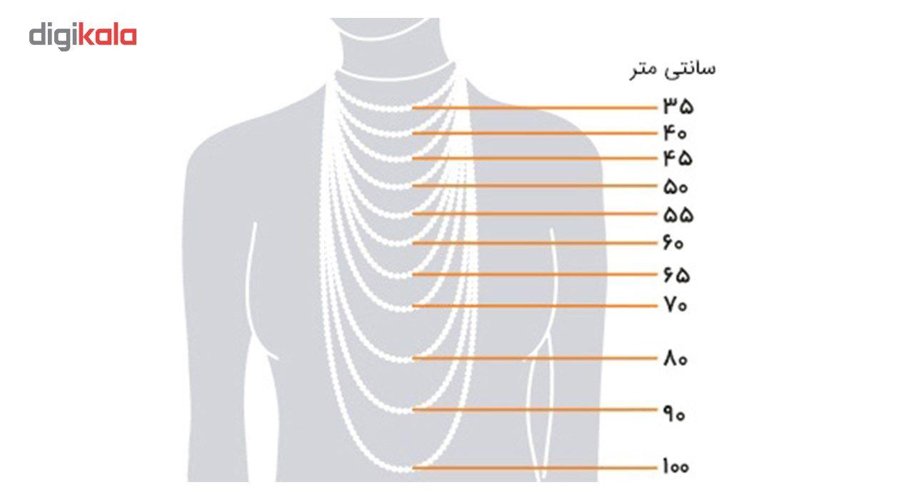 گردنبند استیل مانچو طرح طنابی مدل nm622 -  - 10