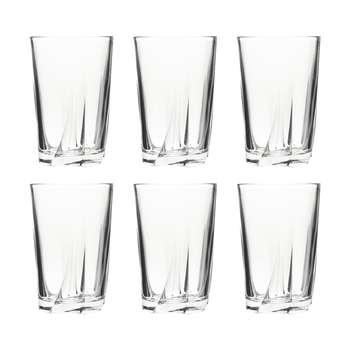 لیوان شیشه و بلور اصفهان سری توسکا کد 333 بسته 6 عددی