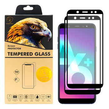 محافظ صفحه نمایش گلدن ایگل مدل DFC-X2 مناسب برای گوشی موبایل سامسونگ Galaxy A6 PLUS 2018 بسته دو عددی