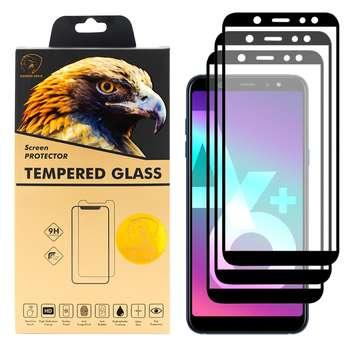 محافظ صفحه نمایش گلدن ایگل مدل DFC-X3 مناسب برای گوشی موبایل سامسونگ Galaxy A6 PLUS 2018 بسته سه عددی