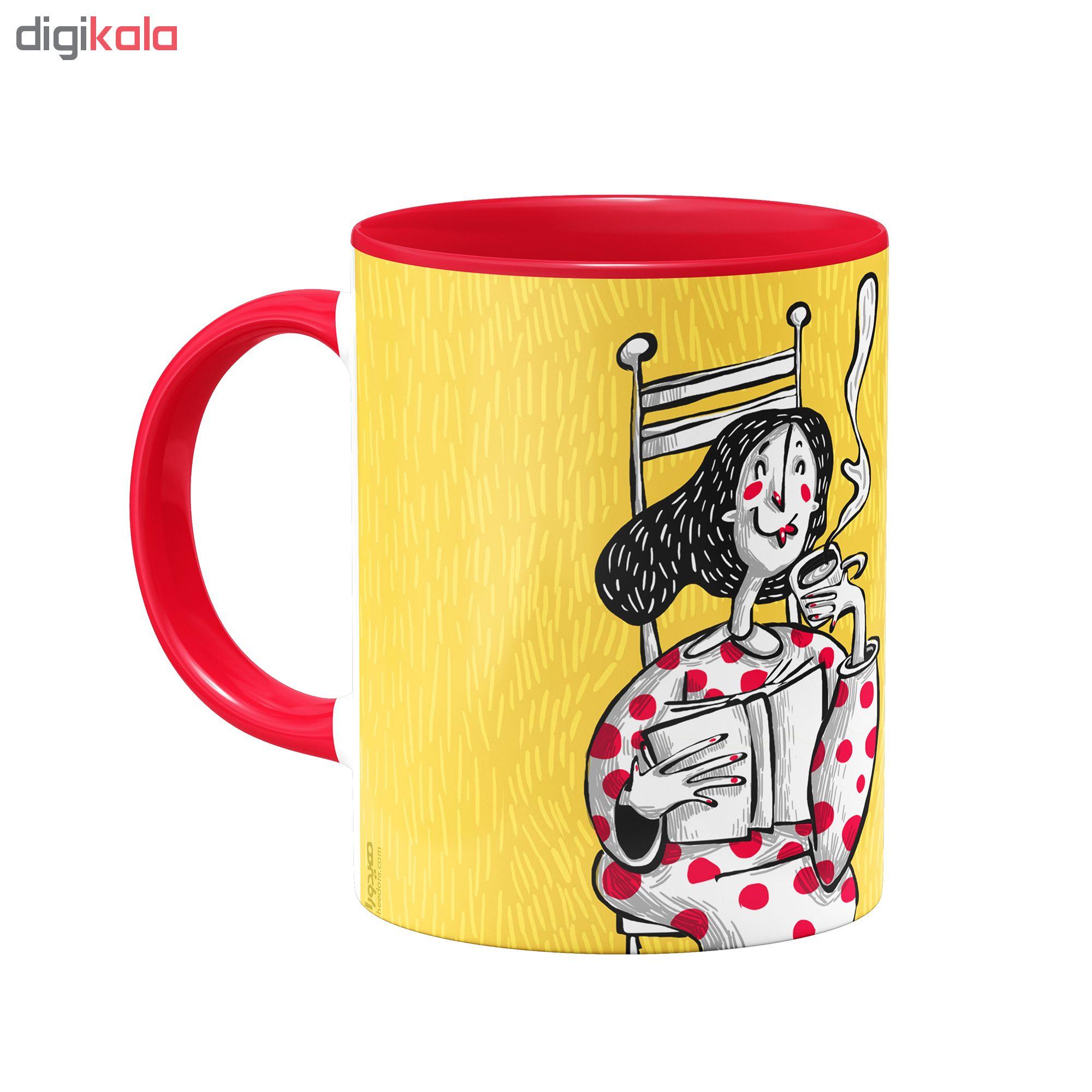 ماگ هیدورا طرح چای و کتاب