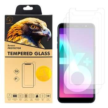 محافظ صفحه نمایش گلدن ایگل مدل GLC-X3 مناسب برای گوشی موبایل سامسونگ Galaxy A6 PLUS 2018 بسته سه عددی