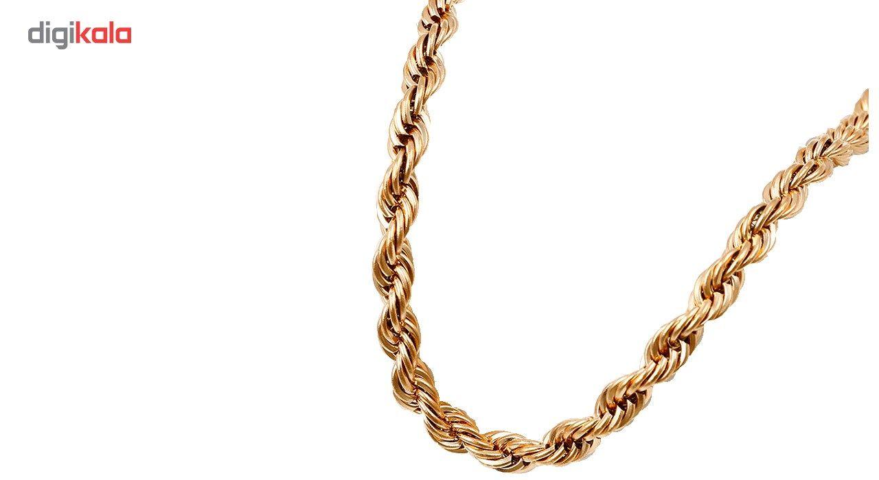 گردنبند استیل مانچو طرح طنابی مدل nm622 -  - 11