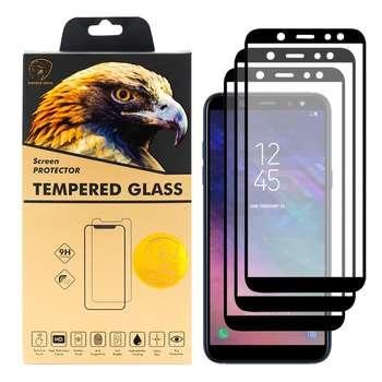 محافظ صفحه نمایش گلدن ایگل مدل DFC-X3 مناسب برای گوشی موبایل سامسونگ Galaxy A6 2018 بسته سه عددی