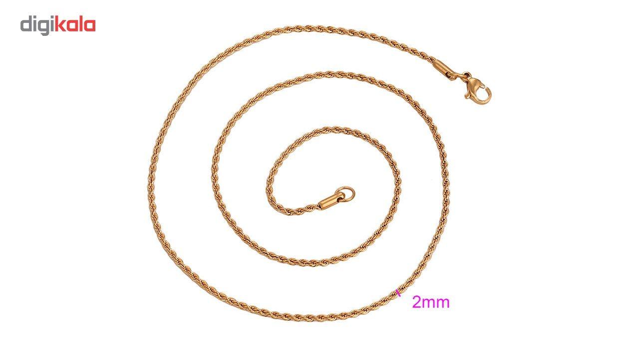 گردنبند استیل مانچو طرح طنابی مدل nm622 -  - 12