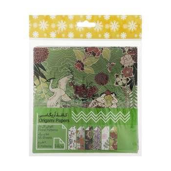 کاغذ اوریگامی طرح گلها بسته 60 عددی