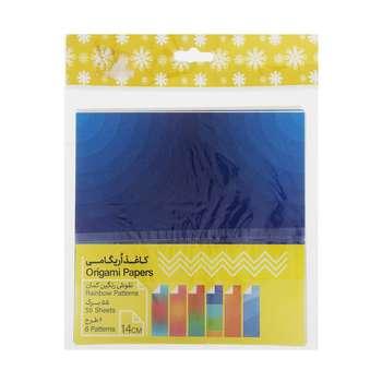 کاغذ اوریگامی طرح رنگین کمان بسته 60 عددی