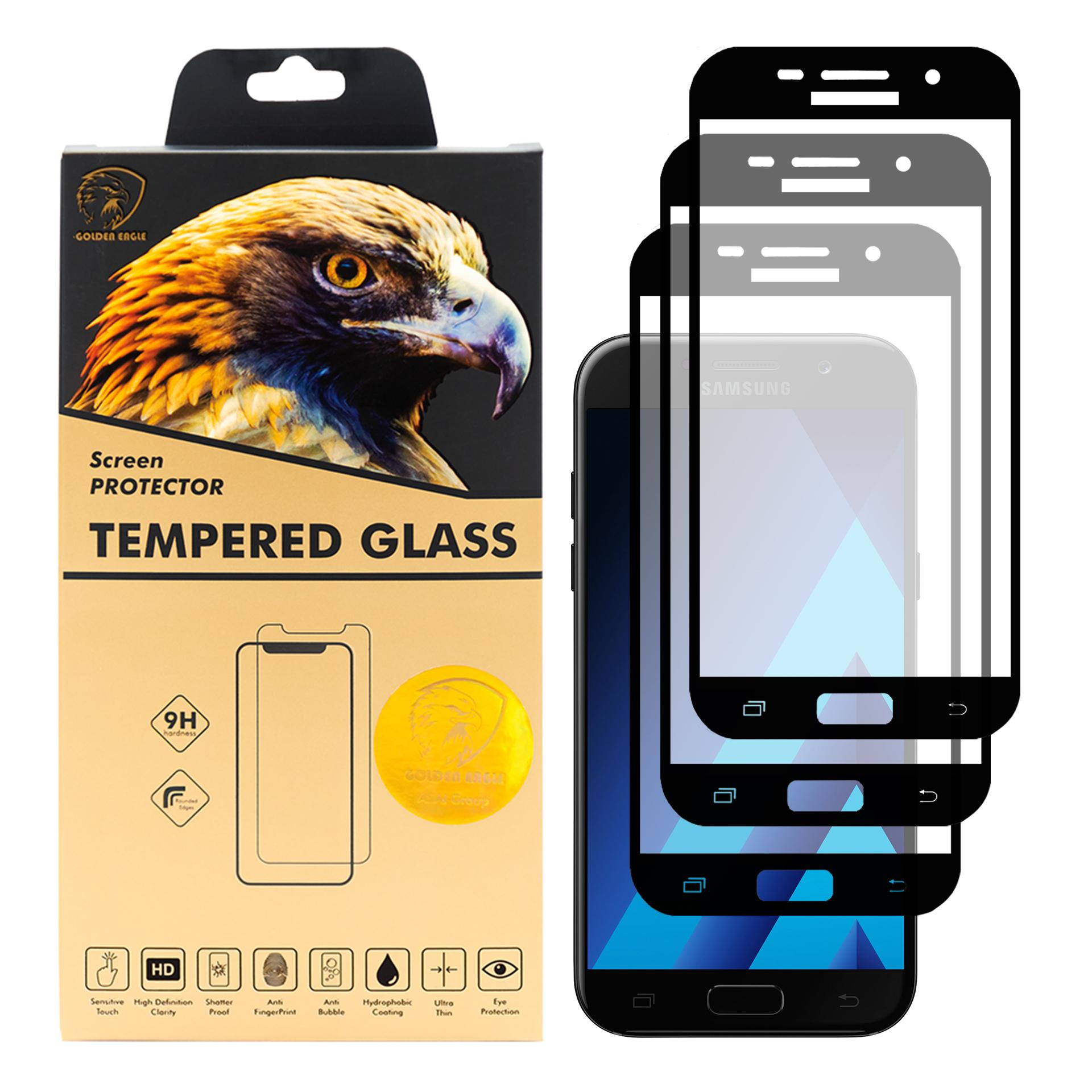 محافظ صفحه نمایش گلدن ایگل مدل DFC-X3 مناسب برای گوشی موبایل سامسونگ Galaxy A5 2017 بسته سه عددی thumb