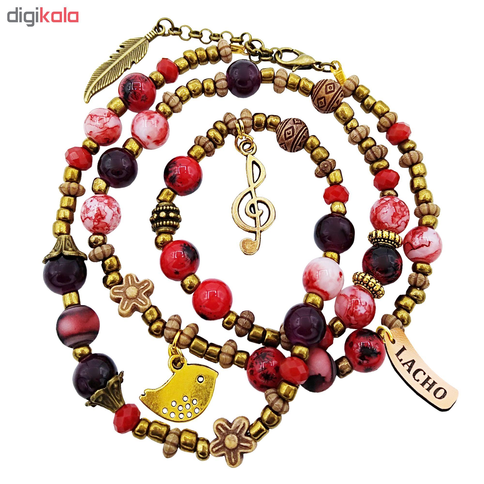 دستبند زنانه لاچو طرح مرغ و پر کد DO-G
