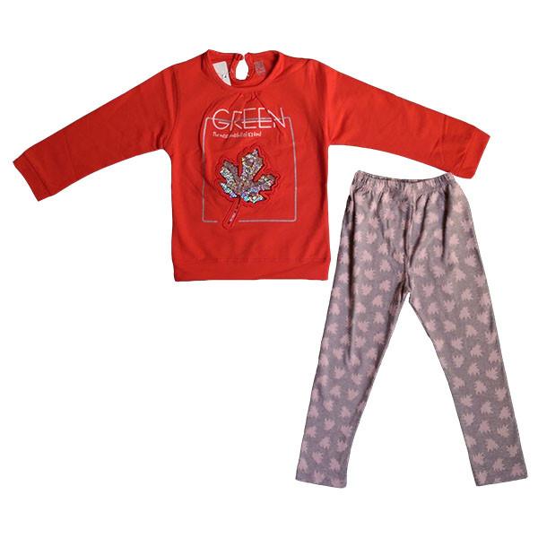 ست تی شرت و شلوار دخترانه کد 003
