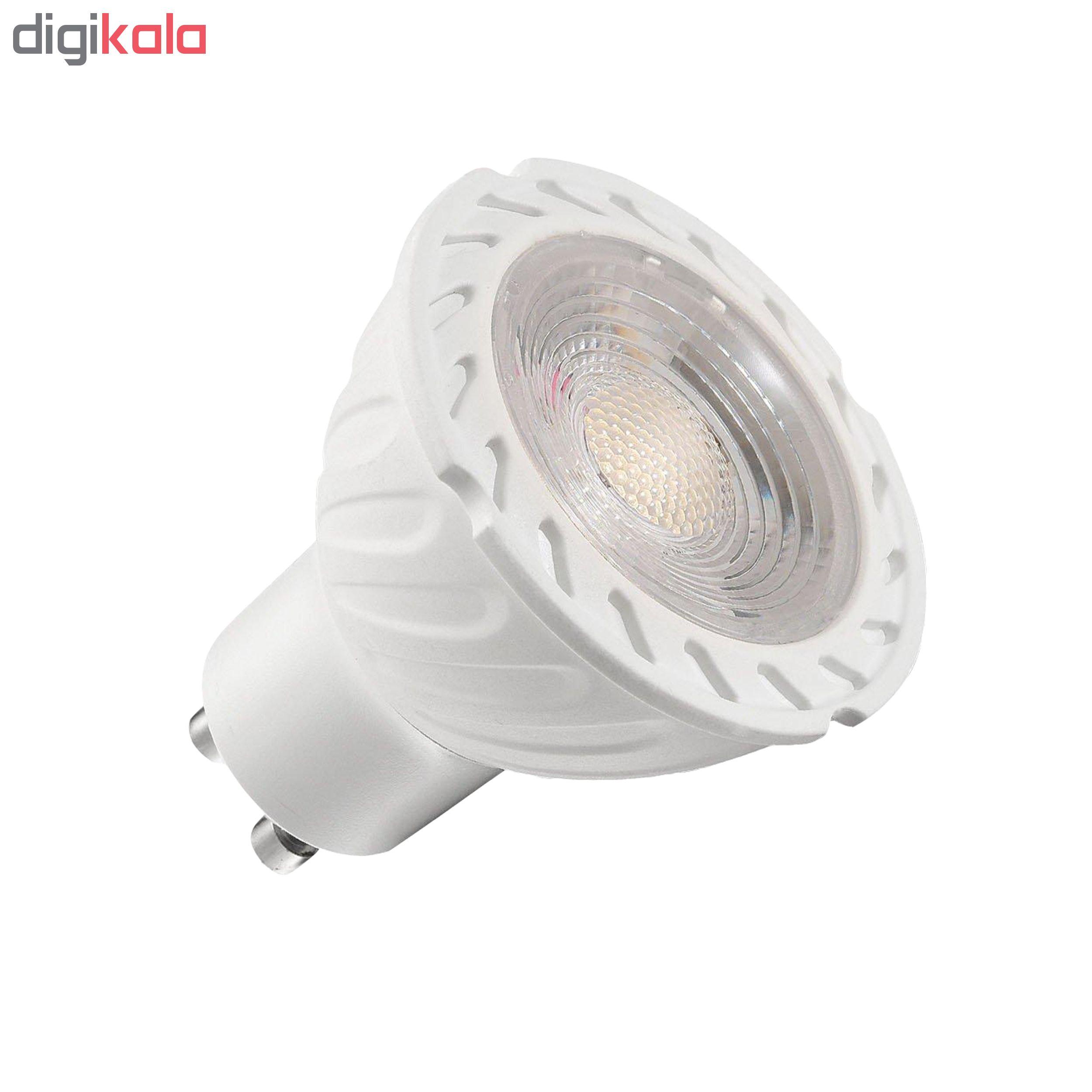 لامپ هالوژن 7 وات مدل GOL-004 پایه GU10 بسته 4 عددی
