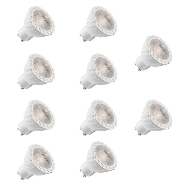 لامپ هالوژن 7 وات مدل GOL-010 پایه GU10 بسته 10 عددی