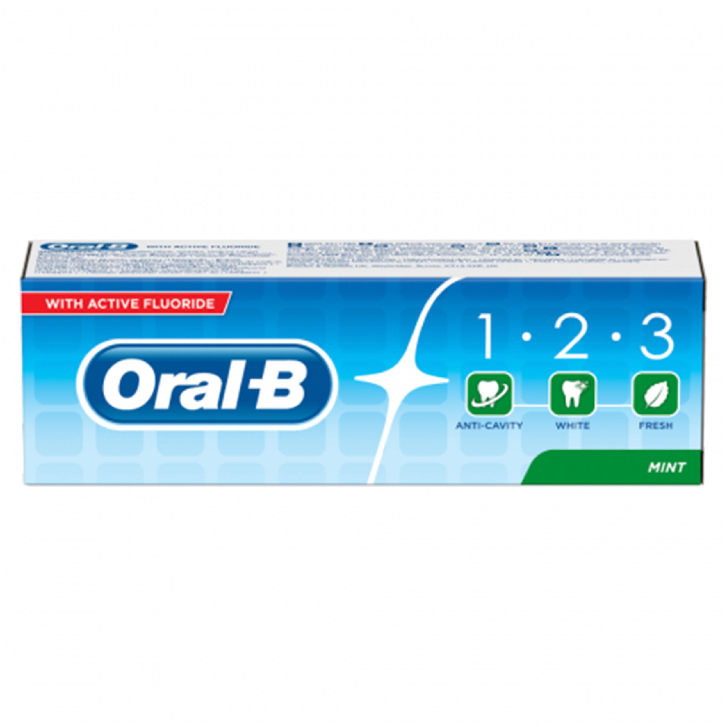 خرید                      خمیر دندان اورال- بی مدل 1.2.3 حجم 100 میلی لیتر