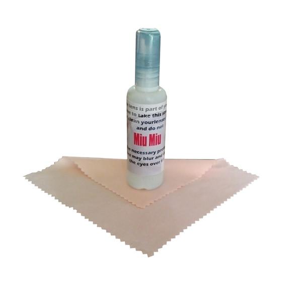 اسپری پاک کننده و دستمال عینک میو میو مدل WIPEN CLEAR