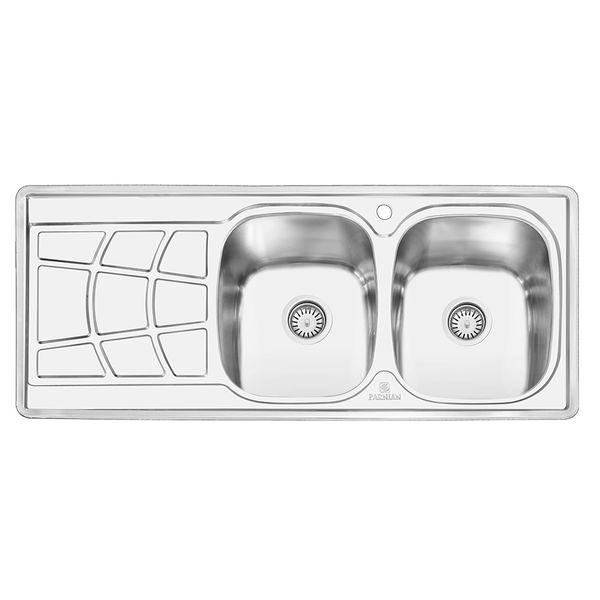 سینک ظرفشویی پرنیان استیل کد Ps 1208 توکار
