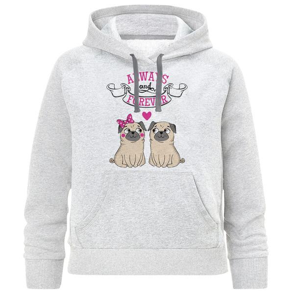 هودی دخترانه طرح سگ کد F68