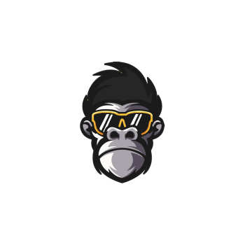 استیکر لپ تاپ طرح میمون  کد ۰۱