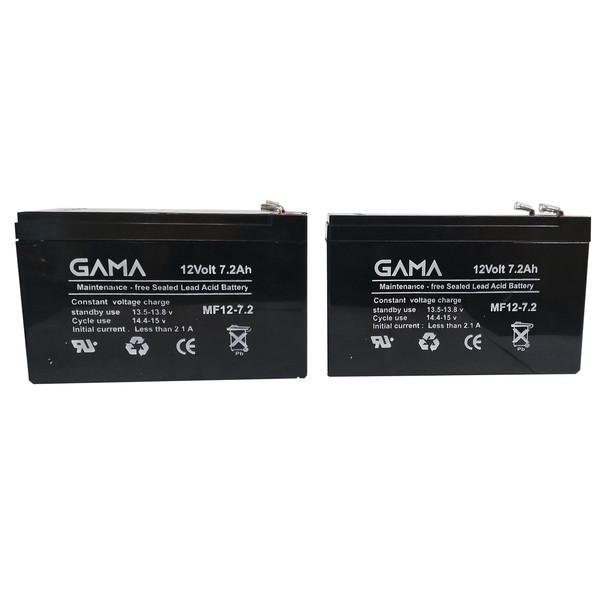 باتری یو پی اس 12 ولت 7.2 آمپر ساعت گاما مدل G1272 بسته 2 عددی