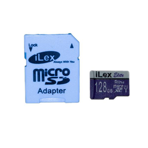 کارت حافظه microSDXC آیلکس مدل X600 کلاس 10 استاندارد UHS-I U1 سرعت 90MBps ظرفیت 128 گیگابایت به همراه آداپتور SD