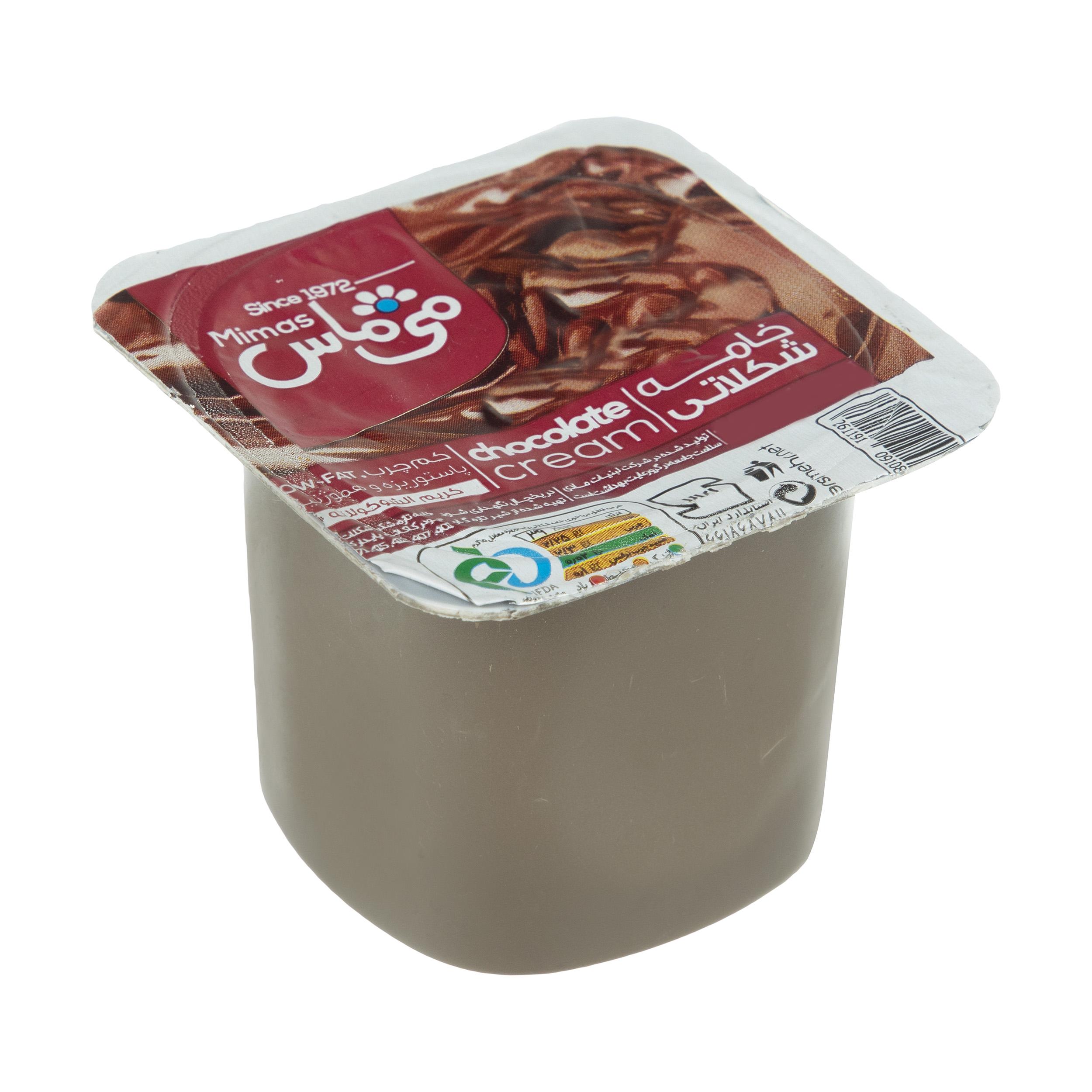 خامه شکلاتی می ماس مقدار 100 گرم