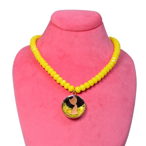 گردنبند طلا 24 عیار زنانه طرح گربه کد 1358