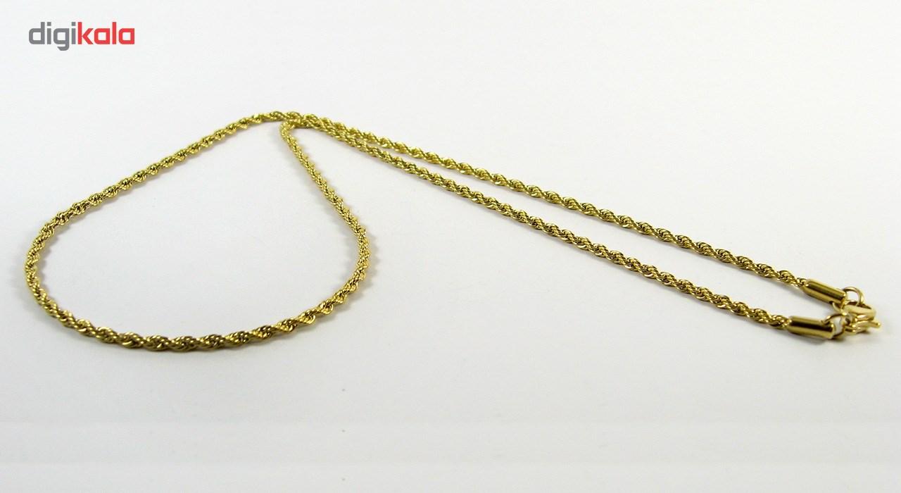 گردنبند استیل مانچو طرح طنابی مدل nm622 -  - 13