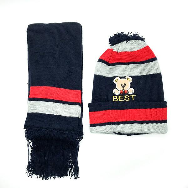 ست کلاه و شال گردن بافتنی کد Bes_Sor