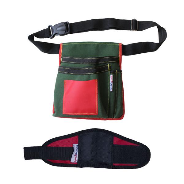کیف ابزار عیدن مگنتیک مدل 9808 به همراه مچ بند ابزار