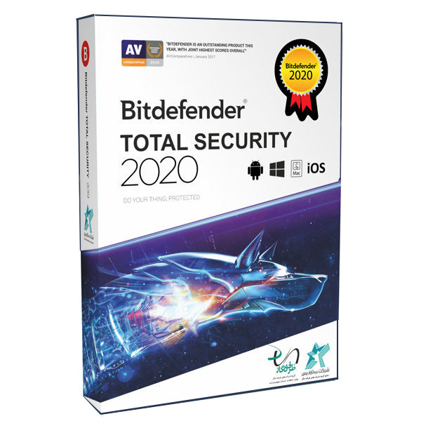 نرم افزار آنتی ویروس بیت دیفندر نسخه توتال سکیوریتی 2020 یک کاربره 1 ساله