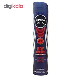 اسپری ضد تعریق مردانه نیوآ مدل Dry Impact Plus حجم 200 میلی لیتر