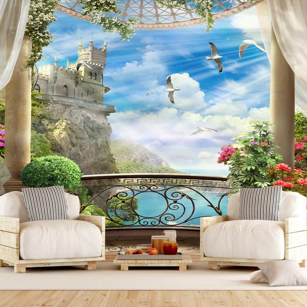 پوستر دیواری سه بعدی طرح باغ گل کد ARTS435
