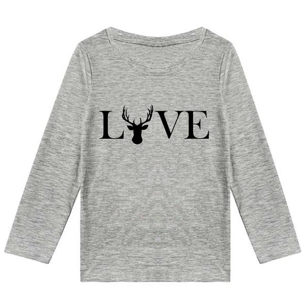 تیشرت آستین بلند پسرانه طرح love کد K02