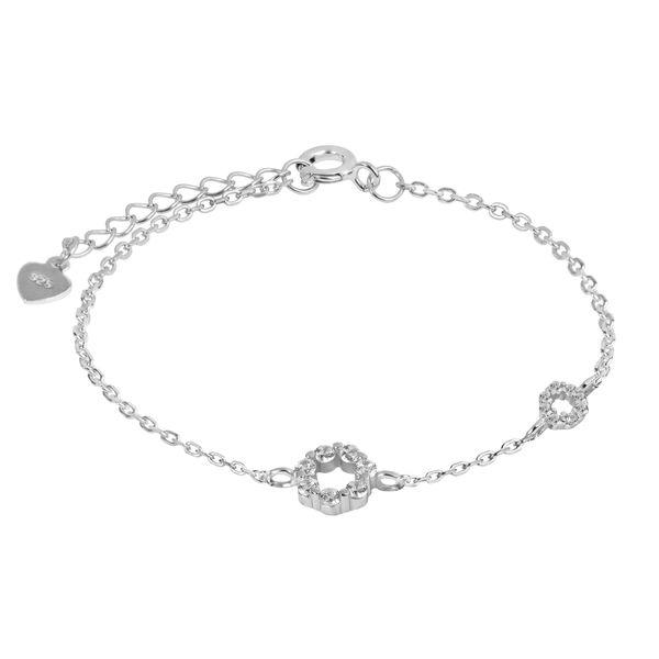 دستبند نقره زنانه اقلیمه کد DN449