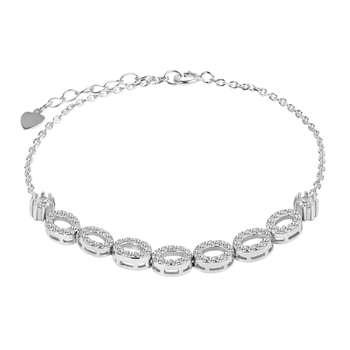دستبند نقره زنانه اقلیمه کد DN450
