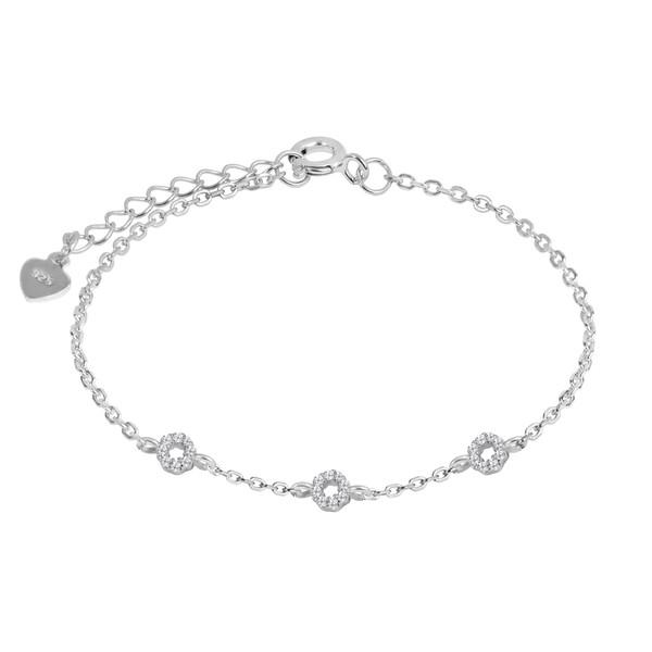 دستبند نقره زنانه اقلیمه کد DN451