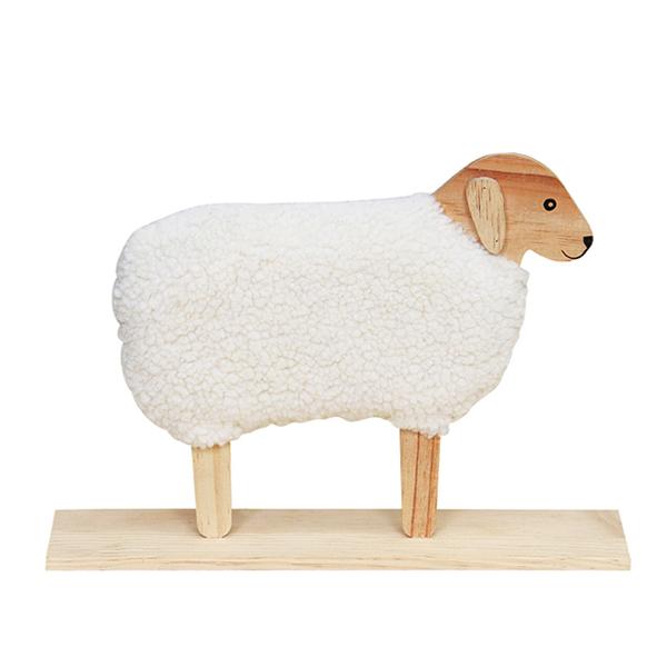 مجسمه چوبی طرح گوسفند کد cncart091