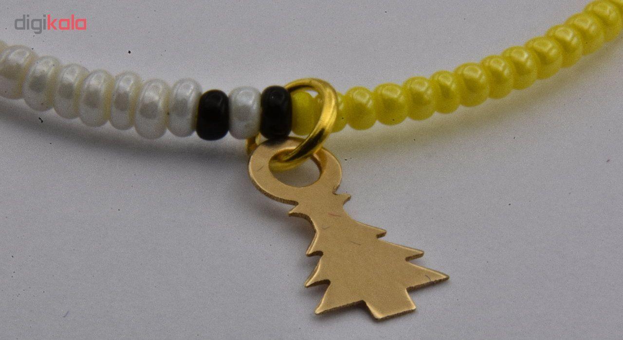 دستبند طلا 18 عیار نه طرح درخت کد 577M294