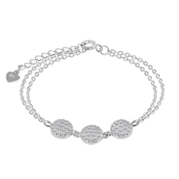 دستبند نقره زنانه اقلیمه کد DN453