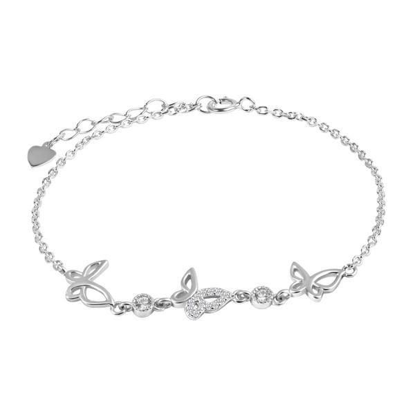 دستبند نقره زنانه اقلیمه کد DN454