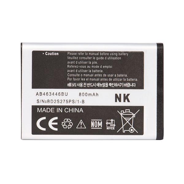 باتری موبایل مدل AB463446BU ظرفیت 800 میلی آمپر ساعت مناسب برای گوشی موبایل سامسونگ E250