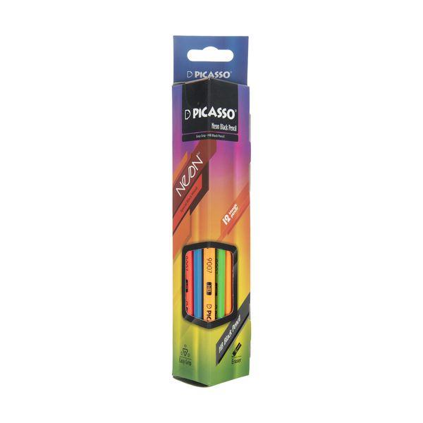 مداد مشکی نئون پیکاسو مدل 18E1146 بسته 12 عددی