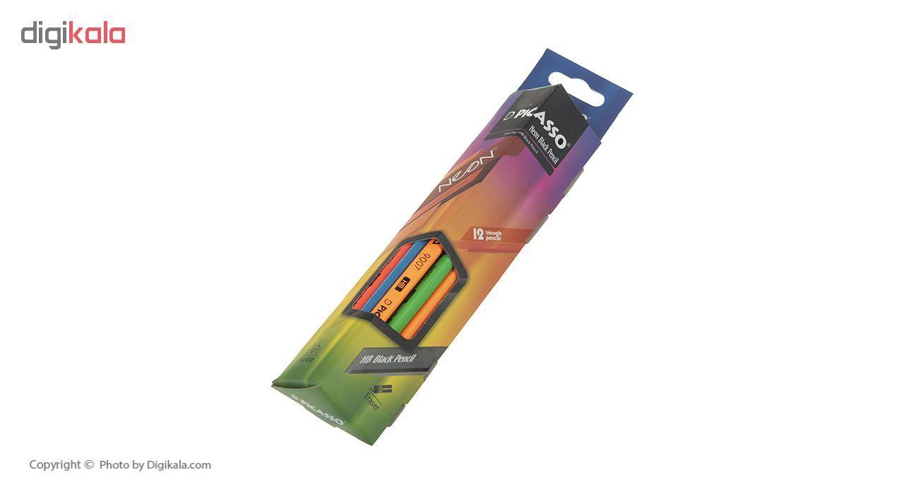 مداد مشکی نئون پیکاسو مدل 18E1146 بسته 12 عددی main 1 2