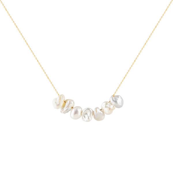 گردنبند طلا 18 عیار زنانه ریسه گالری کد Ri3-P5034