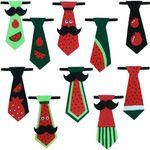 کراوات پسرانه طرح هندوانه مدل 111 مجموعه 10 عددی