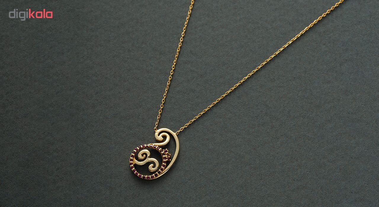 گردنبند طلا 18 عیار زنانه جواهری سون مدل 2352