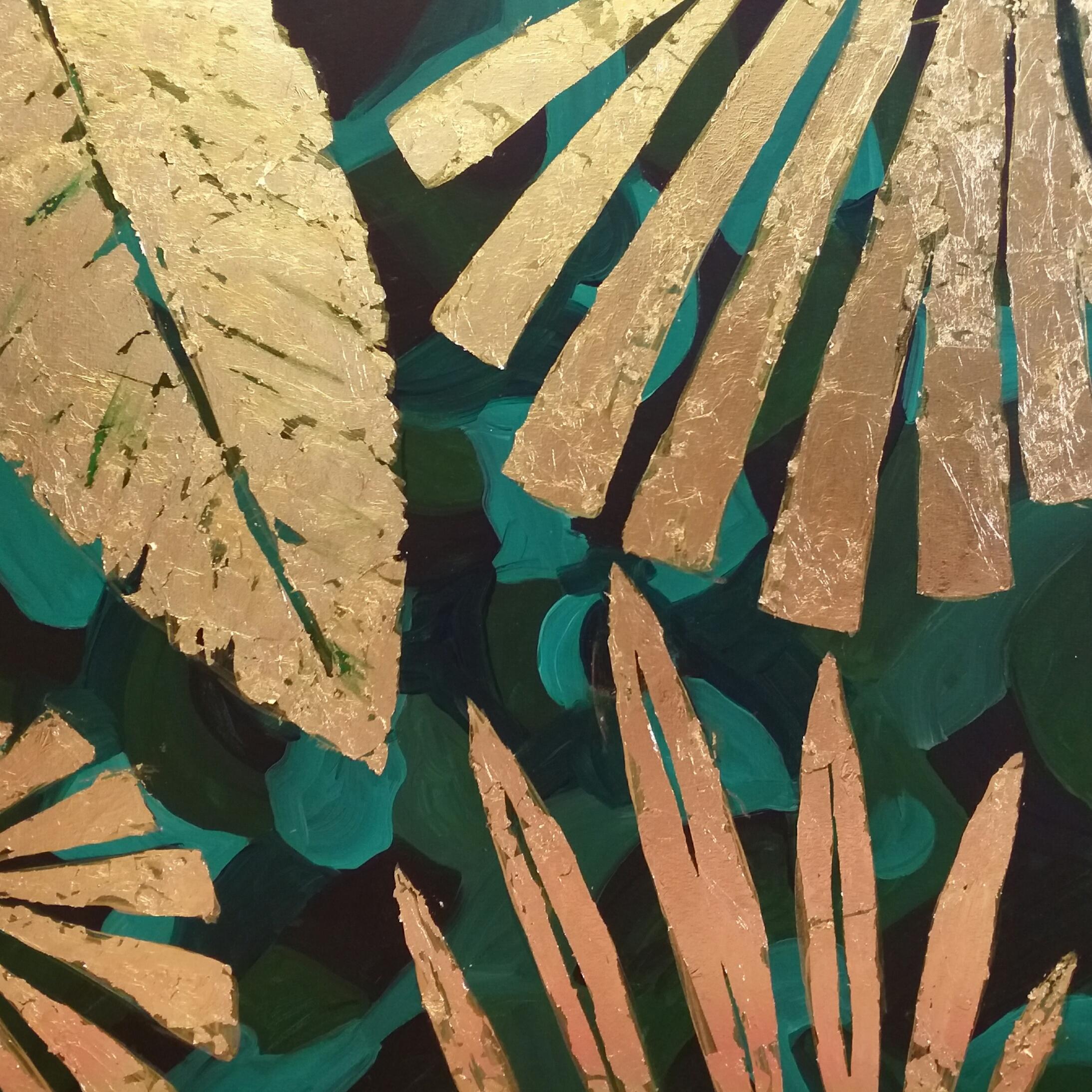 تابلو نقاشی ورق طلا مدل p14